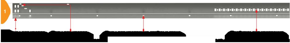 Конструкция гаражных секционных ворот Doorhan - Угловая стойка