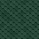 Битумная черепица Шинглас Классик Кадриль Зеленый