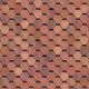 Битумная черепица Шинглас Классик Кадриль Красно-коричневый